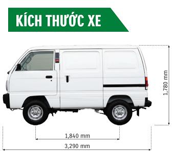 Kích thước xe Blind Van - 1
