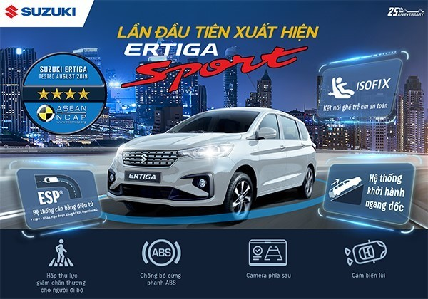 Suzuki Ertiga Sport 2020 có giá bán 559 triệu đồng